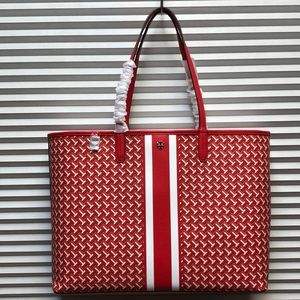 Tory Burch Tote Bag Red Leather